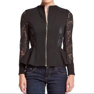 Xoxo sexy zip front Lace jacket NWT